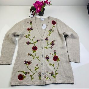 J. Jill •NWT• Wool Blend Cardigan size Large